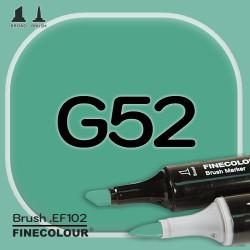 Маркер FINECOLOR Brush G52 Виридийский двухсторонний
