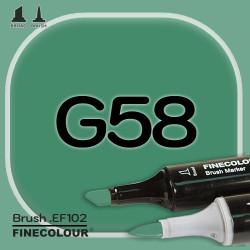 Маркер FINECOLOR Brush G58 Зеленый холли