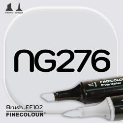 Маркер FINECOLOR Brush NG276 Нейтральный серый №2 двухсторонний