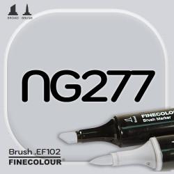 Маркер FINECOLOR Brush NG277 Нейтральный серый №3 двухсторонний