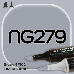 Маркер FINECOLOR Brush NG279 Нейтральный серый №5