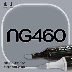 Маркер FINECOLOR Brush NG460 Нейтральный серый №6 двухсторонний