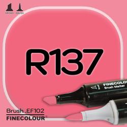 Маркер FINECOLOR Brush R137 Насыщенный красный двухсторонний