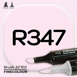 Маркер FINECOLOR Brush R347 Светло-розовый двухсторонний