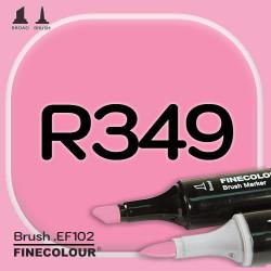 Маркер FINECOLOR Brush R349 Розовая бегония двухсторонний