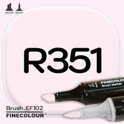 Маркер FINECOLOR Brush R351 Румяный мускатный орех двухсторонний