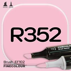 Маркер FINECOLOR Brush R352 Розовая роза двухсторонний