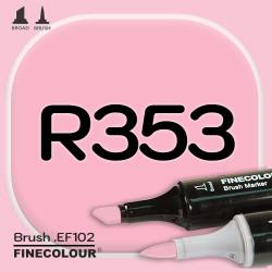 Маркер FINECOLOR Brush R353 Бугенвиль двухсторонний