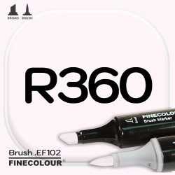 Маркер FINECOLOR Brush R360 Розовато-белый двухсторонний