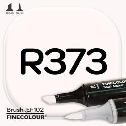 Маркер FINECOLOR Brush R373 Цветочный белый двухсторонний