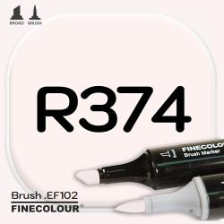 Маркер FINECOLOR Brush R374 Бледно-розовый