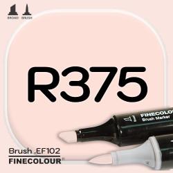 Маркер FINECOLOR Brush R375 Розовый фламинго двухсторонний