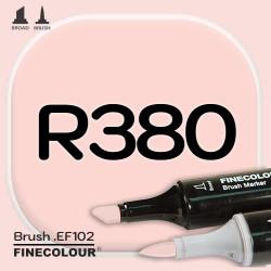 Маркер FINECOLOR Brush R380 Чайная роза двухсторонний
