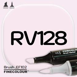 Маркер FINECOLOR Brush RV128 Розовая дымка двухсторонний