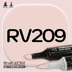 Маркер FINECOLOR Brush RV209 Темная роза