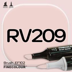Маркер FINECOLOR Brush RV209 Темная роза двухсторонний