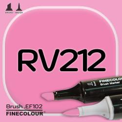 Маркер FINECOLOR Brush RV212 Прозрачный розовый двухсторонний