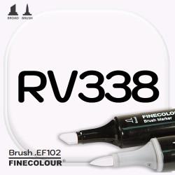 Маркер FINECOLOR Brush RV338 Бледно-фиолетовый двухсторонний