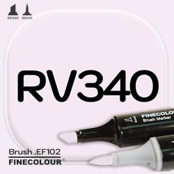 Маркер FINECOLOR Brush RV340 Сахарная вата двухсторонний