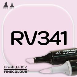 Маркер FINECOLOR Brush RV341 Розовая гвоздика