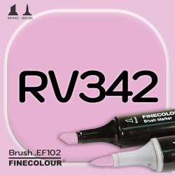 Маркер FINECOLOR Brush RV342 Штокроза розовая двухсторонний
