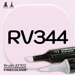 Маркер FINECOLOR Brush RV344 Розовый двухсторонний