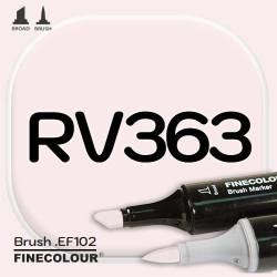 Маркер FINECOLOR Brush RV363 Бледно-розовый двухсторонний