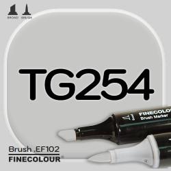 Маркер FINECOLOR Brush TG254 Серый тонер №4 двухсторонний