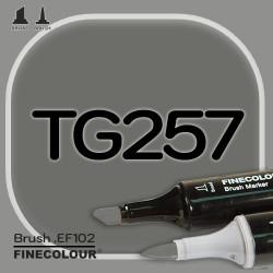 Маркер FINECOLOR Brush TG257 Серый тонер №8 двухсторонний