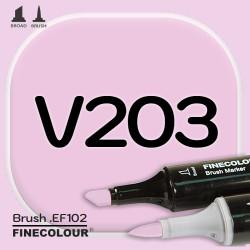 Маркер FINECOLOR Brush V203 Мальва