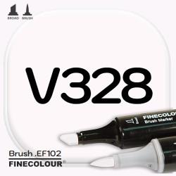 Маркер FINECOLOR Brush V328 Розовый кварц двухсторонний