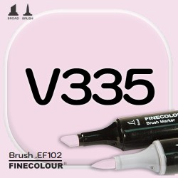Маркер FINECOLOR Brush V335 Фиолетовый дым