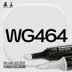 Маркер FINECOLOR Brush WG464 Теплый серый №2 двухсторонний