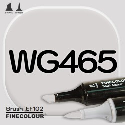 Маркер FINECOLOR Brush WG465 Теплый серый №3