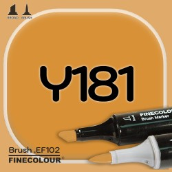 Маркер FINECOLOR Brush Y181 Темно-желтый двухсторонний