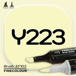 Маркер FINECOLOR Brush Y223 Бледно-желтый