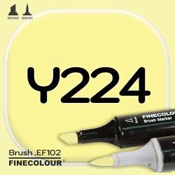 Маркер FINECOLOR Brush Y224 Лимон двухсторонний