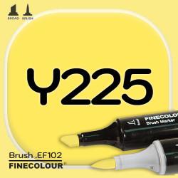 Маркер FINECOLOR Brush Y225 Кислотный желтый двухсторонний