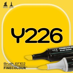 Маркер FINECOLOR Brush Y226 Канарейка двухсторонний