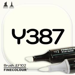 Маркер FINECOLOR Brush Y387 Бледно-желтый двухсторонний