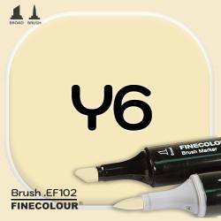 Маркер FINECOLOR Brush Y6 Глубокий кремовый двухсторонний