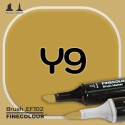 Маркер FINECOLOR Brush Y9 Оливковое золото