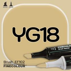 Маркер FINECOLOR Brush YG18 Светло-зеленое золото двухсторонний