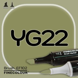 Маркер FINECOLOR Brush YG22 Оливковый