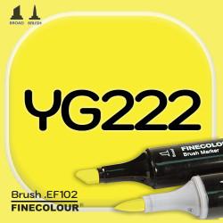 Маркер FINECOLOR Brush YG222 Желтый двухсторонний