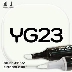 Маркер FINECOLOR Brush YG23 Фисташковый двухсторонний