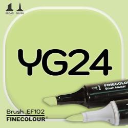 Маркер FINECOLOR Brush YG24 Серовато-зеленый двухсторонний