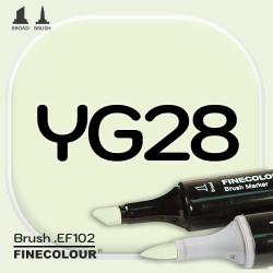 Маркер FINECOLOR Brush YG28 Прессованный лист двухсторонний