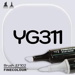 Маркер FINECOLOR Brush YG311 Желтовато-серый №0