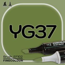 Маркер FINECOLOR Brush YG37 Глубокий оливково-зеленый двухсторонний